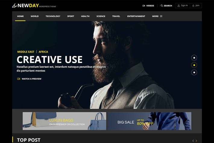 Thumbnail for Newday - Magazine Responsive Html Template