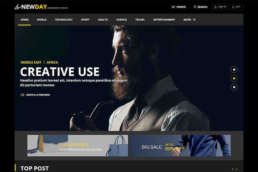 Newday - Magazine Responsive Html Template
