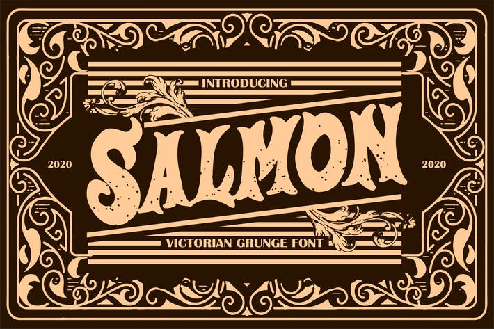 Thumbnail for Salmon | Victorian Grunge Font