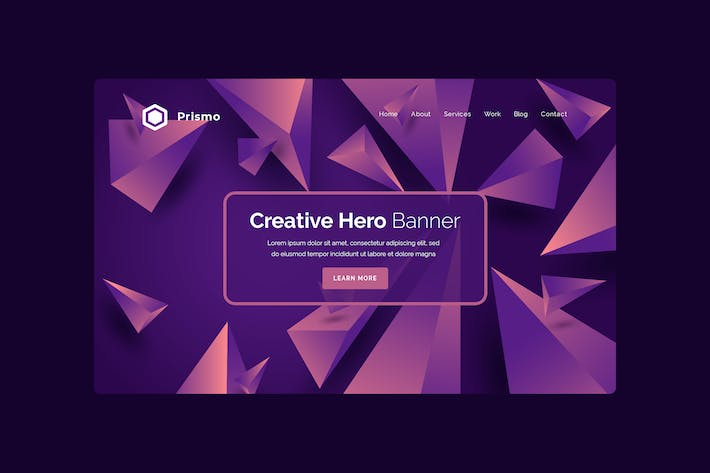 Thumbnail for Prismo - Hero Banner Template