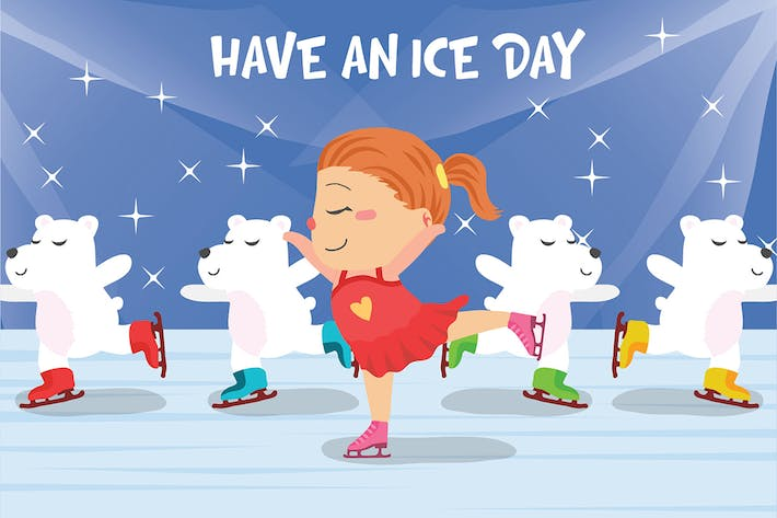 Thumbnail for Ice Skating - Vector Illustration