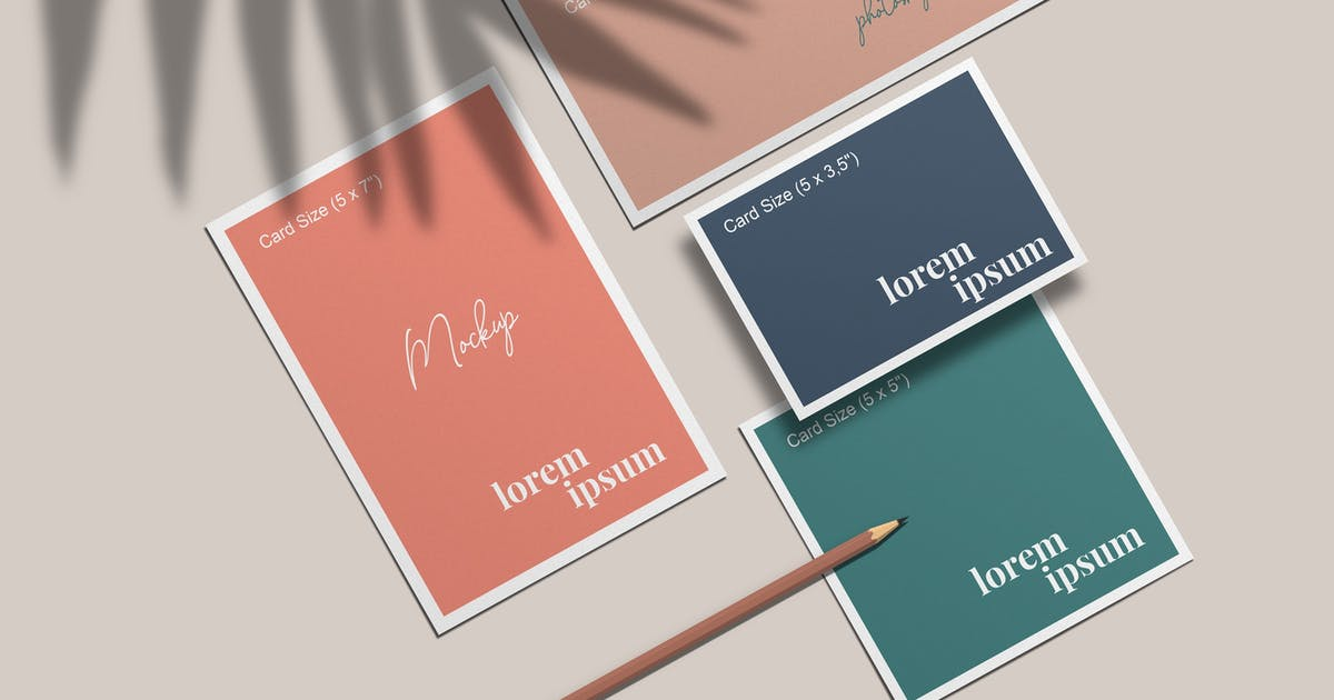 Download Invitation Cards Collection Mockup by graphiccrew