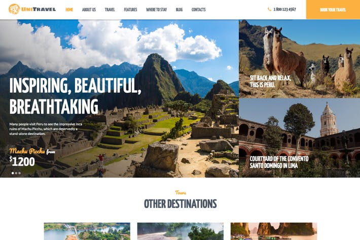 Thumbnail for UniTravel | Travel Agency & Tourism Bureau WP