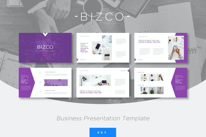 Thumbnail for Bizco - Business Keynote Presentation Template
