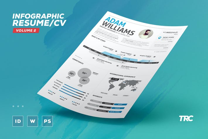 Infographic Resume/Cv Volume 2 By Paolo6180 On Envato Elements