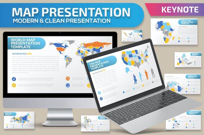 Thumbnail for Map Keynote Presentation Template