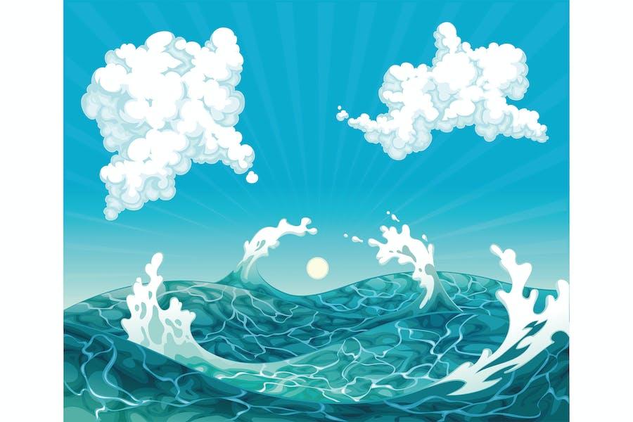 Waves. Vector illustration