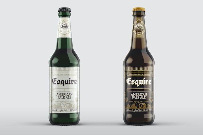 Thumbnail for Beer Bottle Mock-Up Template