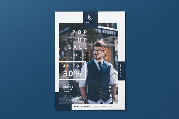 Thumbnail for Man Fashion Pop Up Sale AI and PSD Flyer Vol.1