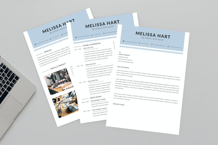 Thumbnail for Мелисса Бизнес Резюме дизайнер