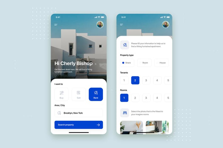 Thumbnail for Real Estate Mobile App UI Kit Template