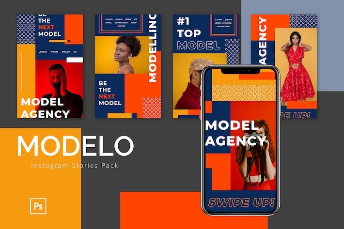 Thumbnail for Modelo - Instagram Story Pack