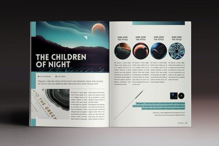 Thumbnail for Design Magazine 4 Indesign Vorlage