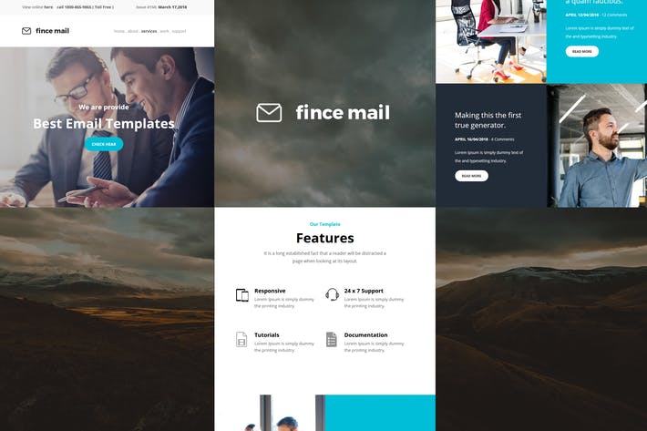Thumbnail for Fince Mail - Responsive E-mail Template