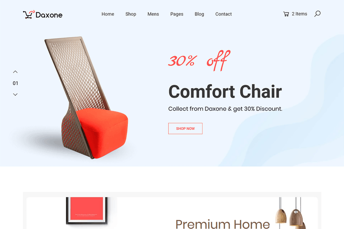 Cover Image For eCommerce HTML Template - Daxone