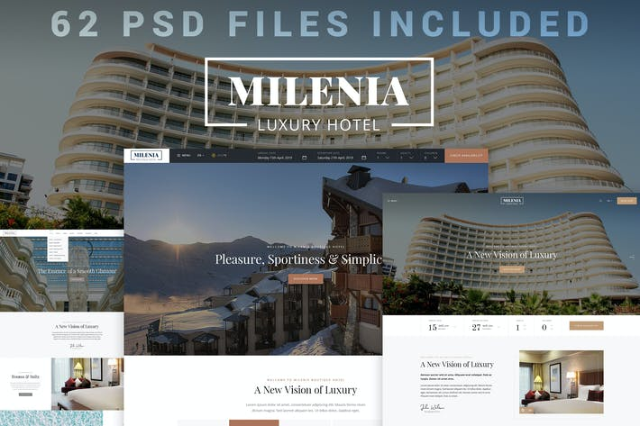 Thumbnail for Milenia - Hotel PSD Template