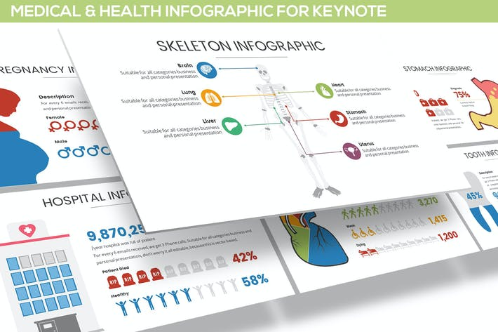 Thumbnail for Medical & Health Infographic for Keynote