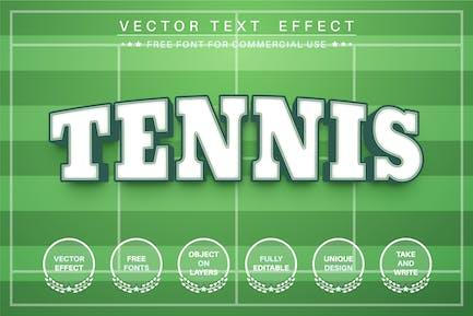 Tennis sport  - editable text effect,  font style