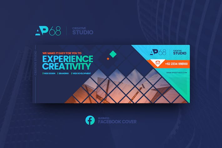 Thumbnail for AP68 Business Facebook Cover Template