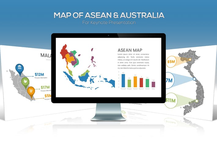 Thumbnail for ASEAN & Australia Maps For Keynote