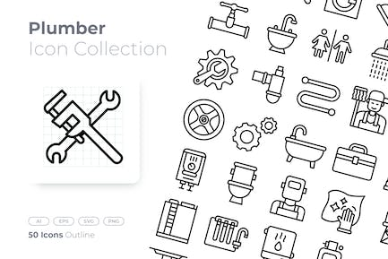 Plumber Outline Icon