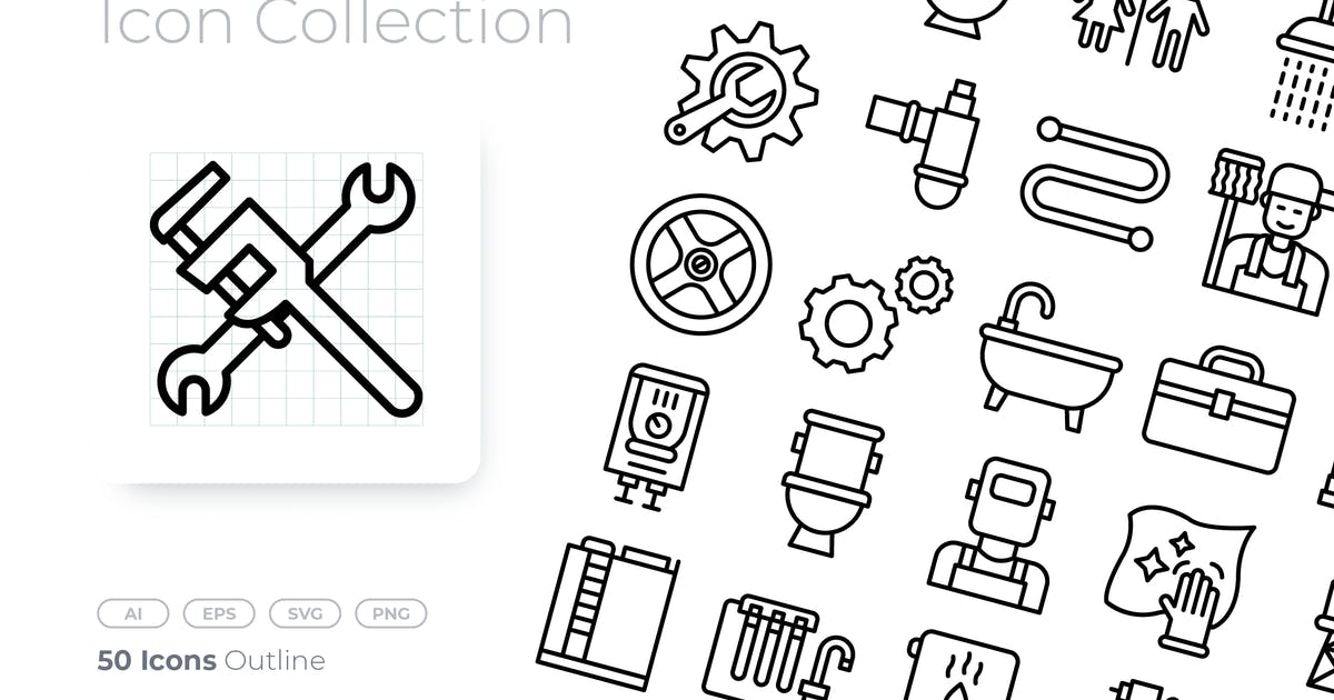 Download Plumber Outline Icon by GoodWare_Std