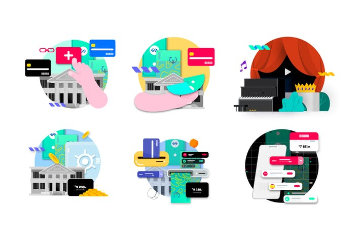 Thumbnail for 29 Part Illustration Finance Technology - Part 5