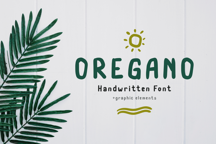 Thumbnail for Oregano Handwritten Font