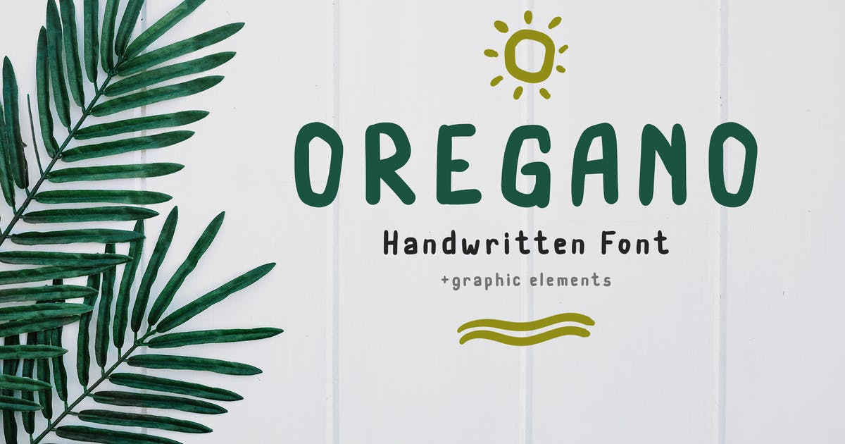 Download Oregano Handwritten Font by peterdraw