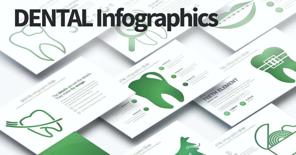 Download DENTAL - PowerPoint Infographics Slides by pulsecolor