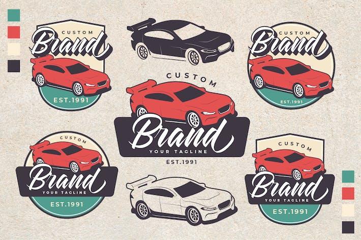Thumbnail for Racing Car Theme Vintage Logo