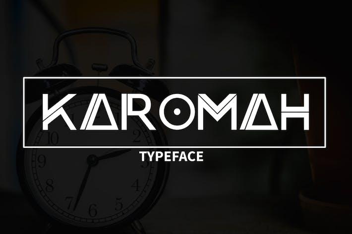 Thumbnail for Karomah Typeface Font