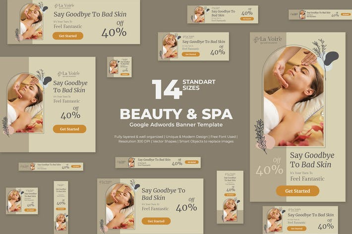 Beauty & Spa Google Adwords Banner Template