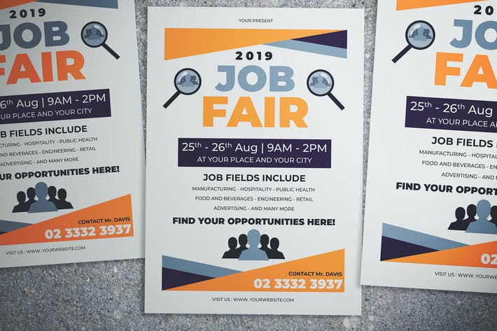 Thumbnail for Simple Job Fair Event Flyer