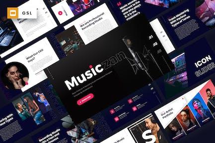 Musiczan - Music Producer Google Slides Template