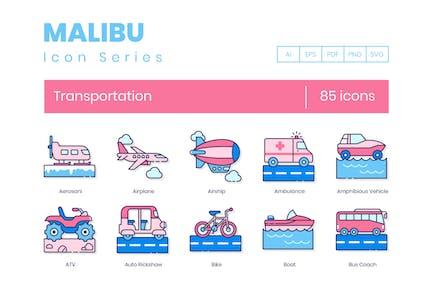85 Transportation Line Icons