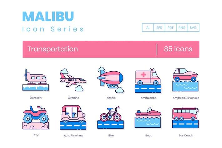 Thumbnail for 85 Transportation Line Icons