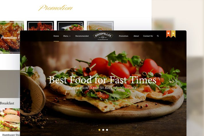 Thumbnail for Food Restaurant Landing Page