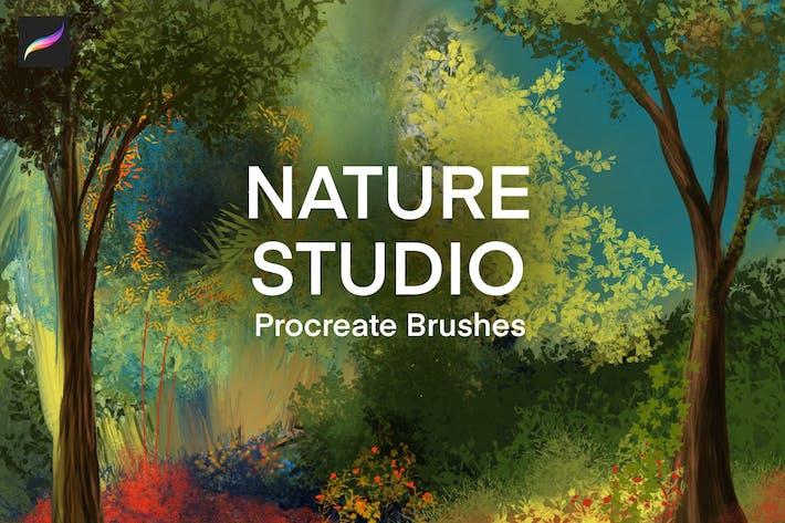 Thumbnail for Nature Studio - Landscape Procreate Brushes
