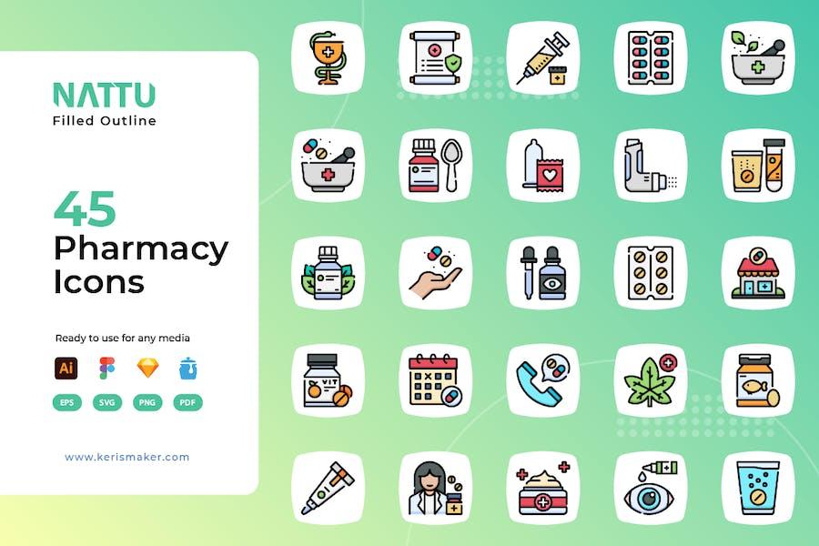 Nattu - Pharmacy Icons