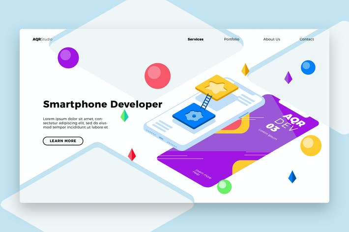 Thumbnail for software developer - Banner & Landing Page
