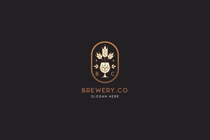 Thumbnail for Brewery - Wheat Beer Logo Template