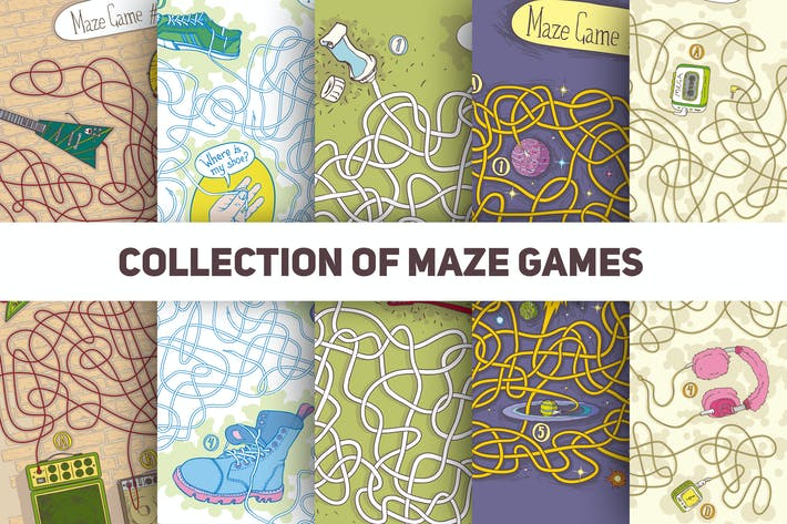 Thumbnail for Collection of 5 Maze Games