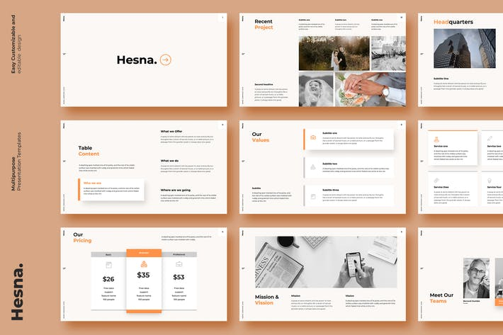 Thumbnail for Hesna - Powerpoint Template