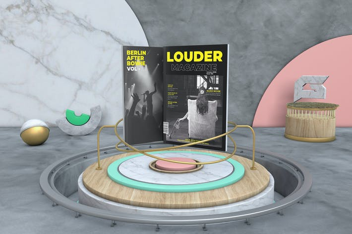 Cover Image For Louder Music Magazine Template