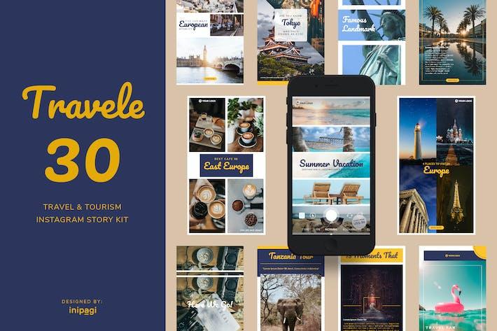 Thumbnail for TRAVELE - Инстаграм рассказ Kit