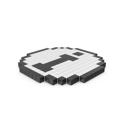 Icono pixelado del círculo de información