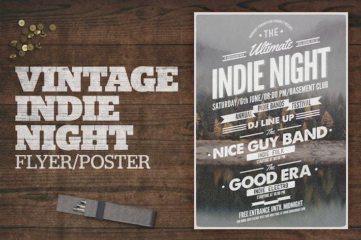 Vintage Indie Night Poster