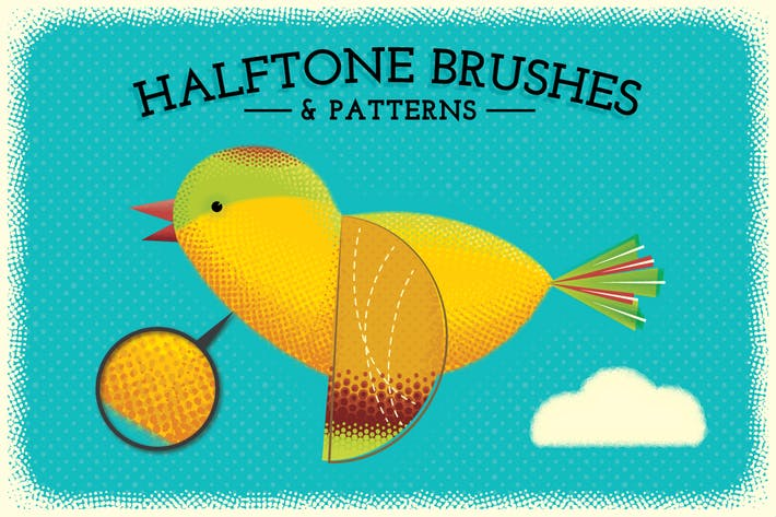 Thumbnail for Halftone Brushes + Bonus Patterns