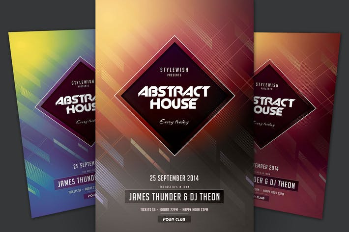 Thumbnail for Abstract House Flyer